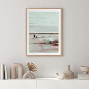 Beach Walk 2   Framed Art Print