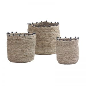 Bead Baskets various colours | Set of 3 | by SATARA