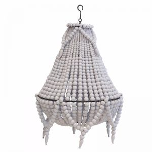 Beaded Chandelier II | White | by Raw Decor