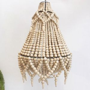 Beaded Chandelier | Natural | by Raw Decor