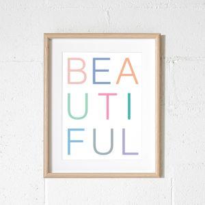 Beautiful Rainbow White Art Print