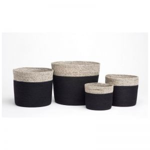 Bedford | Set of 4 | Handmade Jute Baskets | Fab Habitat