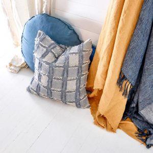 Bedu Cushion | Blue Chambray