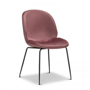 Beetle Velvet Dining Chair | Dusty Pink | Set of 2