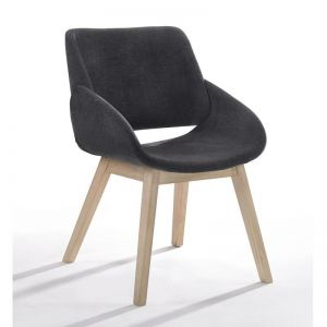 Bela Arm Chair Dining Chair | Natural Black | Modern Furniture