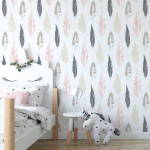 Beleaf In Yourself - Nature's Child | Eco Wallpaper | Pink | Amba Florette