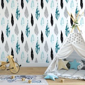 Beleaf In Yourself - Nature's Child | Eco Wallpaper | Teal | Amba Florette