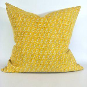 Belgrade Block Print Heavy-Weight Cushion   Pure Linen