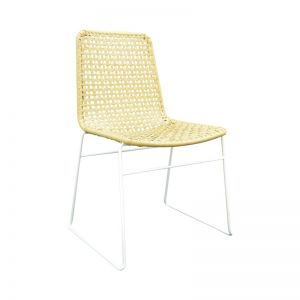 Bella Loom Dining Chair with White or Black Legs by SATARA