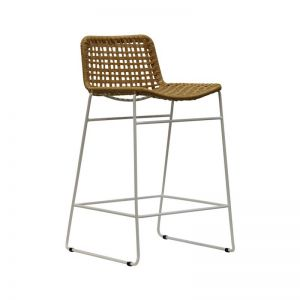 Bella Loom Kitchen Stool with White or Black Legs by SATARA
