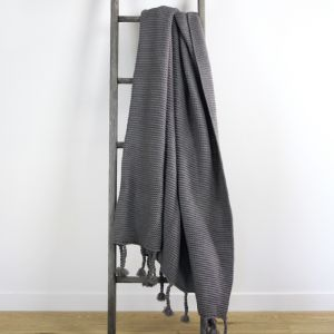 Belle Chunky Knit Throw | Grey | by Collective Sol
