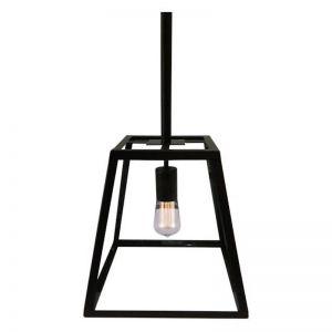 Bellis Small Glass Pendant Light | Powdercoated Black|