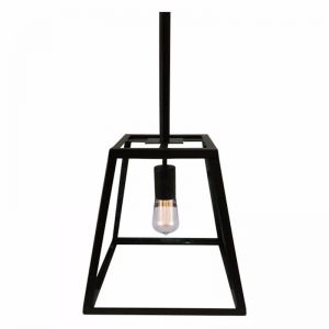 Bellis Small Glass Pendant Light | Powdercoated Black | Schots