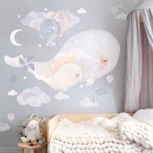 Beluga Whales Wall Sticker by Schmooks