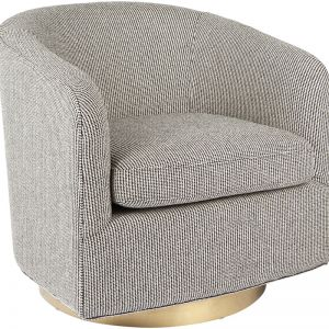 Belvedere Swivel Occasional Chair | Black