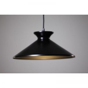 Bengta Pendant Light | Matte Black Gold Inside