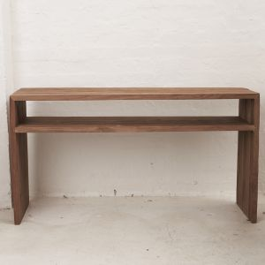 Beni Console with Shelf | Custom Made