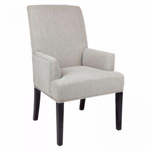 Bentley Arm Chair | Grey Linen or Black Linen