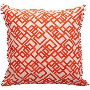 Bermuda Maze Cushion | Orange