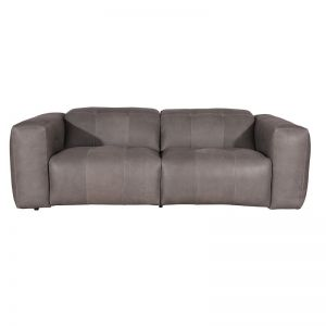 Bernhardt Leather Electric Recliner Sofa | Pewter