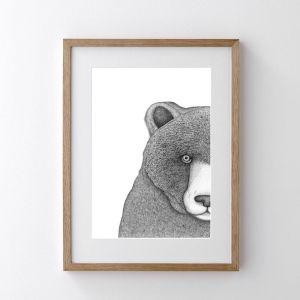 Beryl the Bear | Art Print | Dots by Donna