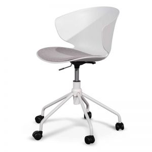 Betrillo Office Chair White and Light Grey