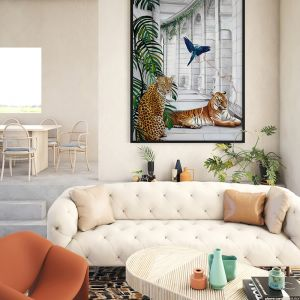 Big Cat Club | Framed Art Print