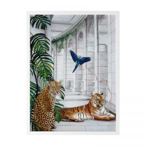 Big Cat Club | Framed Art Print