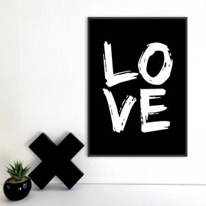 Big Love | A3 Poster | Copper or B/W