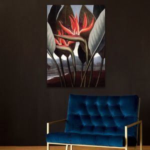 Bird of Paradise Lithograph | Stretched Canvas | Printed Panel