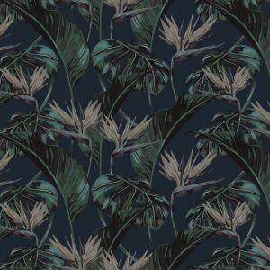 Birds of Paradise Wallpaper - Teal