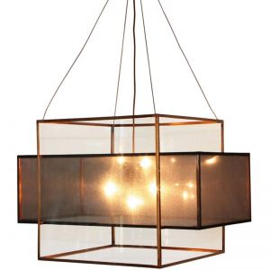 Black and Copper Chandelier by Shaynna Blaze