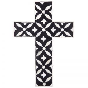 Black and White Inlay Cross | by Raw Decor