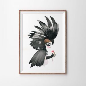 Black Cockatoo Art Print | Various Sizes