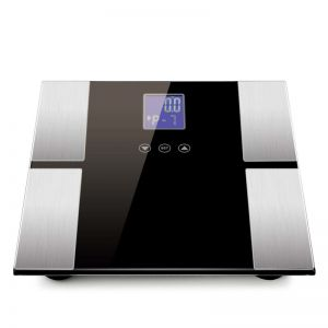 Black Digital Body Fat Scale Bathroom Scales Weight Gym Glass Water LCD Electronic