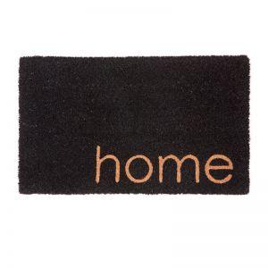 Black Home PVC Backed Coir Doormat