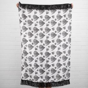 Black Palm Throw I Jak & Co Design