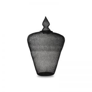 Black Spun Steel Crotchet Mee.ka Pot | Large | OMG I WOULD LIKE