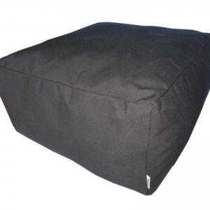 Black | Sunbrella Marine Fabric Ottomans