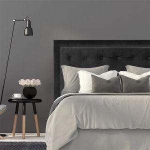 Black Velvet Buttoned Upholstered Bedhead w Stud Border | All Sizes | Custom Made by Martini Furnitu