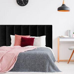 Black Velvet Panelled Upholstered Bedhead | All Sizes | Custom Made by Martini Furniture
