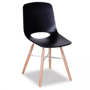 Black Wasowsky | Dining Chair with Beechwood Legs