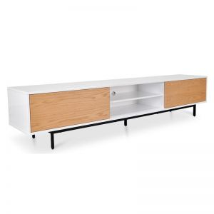 Blake 2.3m TV Entertainment Unit | Lowline | Natural | Interior Secrets