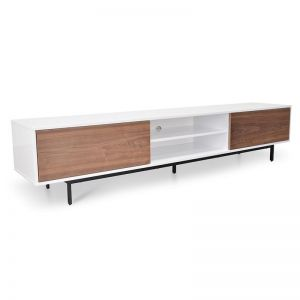 Blake 2.3m TV Entertainment Unit | Lowline | Walnut | Interior Secrets