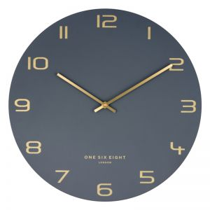 Blake Charcoal 40cm SILENT Wall Clock