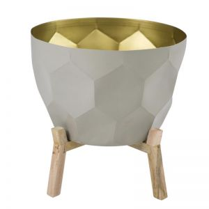 Bloom in Gold Planter by Ziporah Lifestyle | Dove