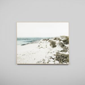 Blue Bay Scape | Framed Canvas Print