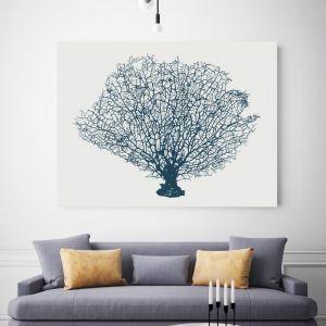 Blue Coral Fan | Canvas Wall Art by Beach Lane