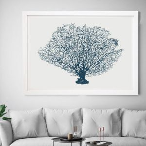 Blue Coral Fan | Framed Wall Art by Beach Lane