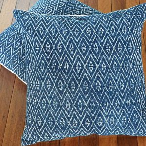 Blue Diamond Woven Cushion